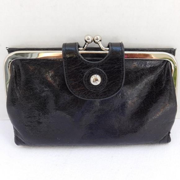 54531386f377 HOBO Handbags - HOBO INTERNATIONAL KISS-LOCK WALLET BLACK